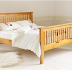 Giường ngủ đơn gỗ tự nhiên bền đẹp phong cách