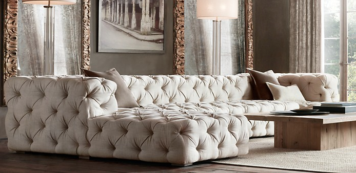 restoration hardware sectional