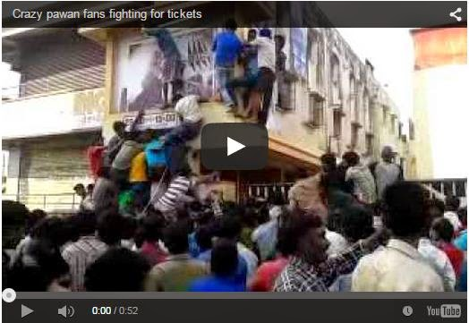 Crazy pawan fans fighting for tickets