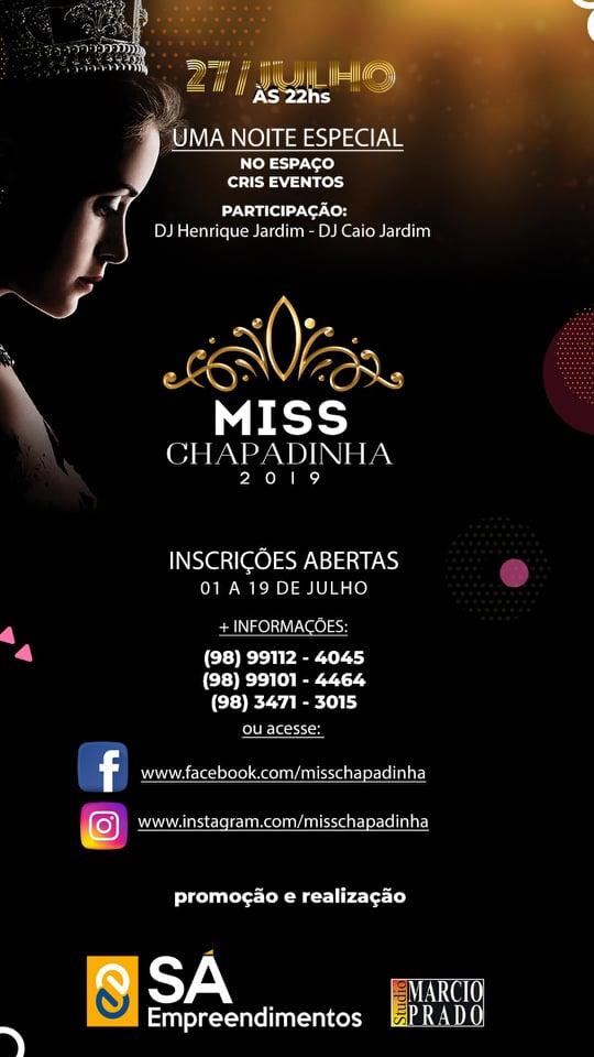 Miss Chapadinha 2019.