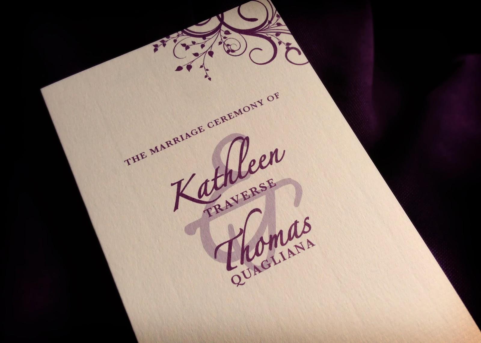kate toms wedding programs invitation design by morgan