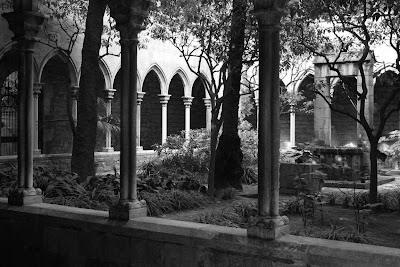Cloister of Santa Anna church in Barcelona