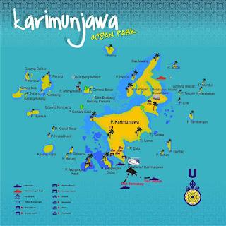 Peta Pulau Karimunjawa