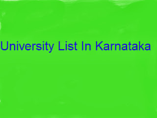 University List In Karnataka