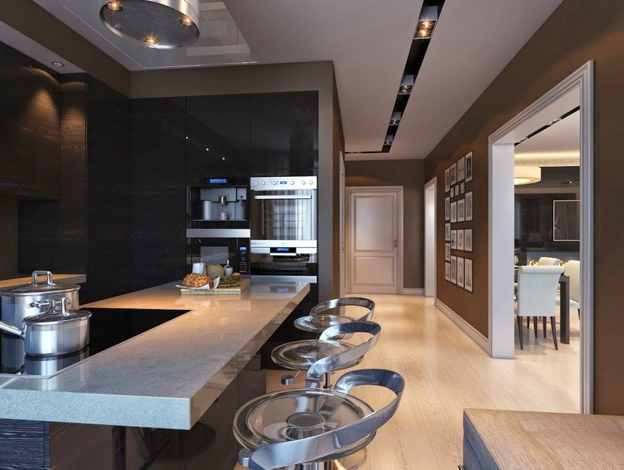 Design kitchen tile countertop and black granite clear