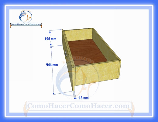 C mo hacer una cama medidas plano gu a construcci n web for Como hacer una cama con cajones