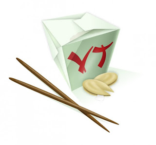 Icon box with Chinese food