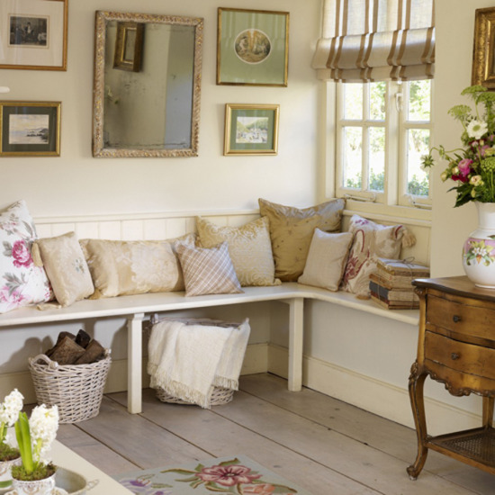 New home interior design country hallway for Country hallway ideas