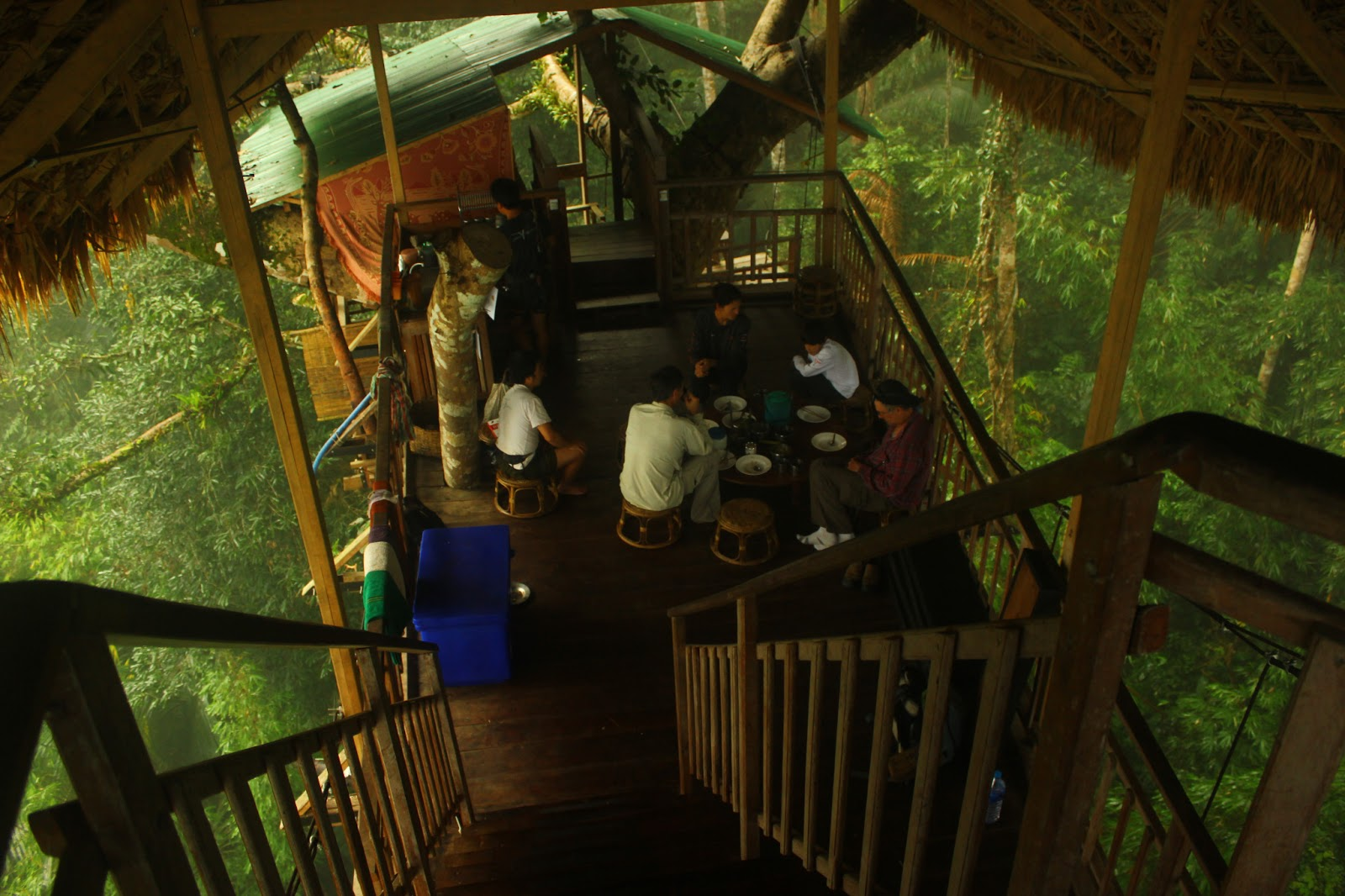 Bokeo Laos  City pictures : Our treehouse in the Bokeo Rainforest, Laos.