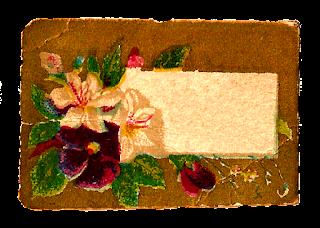 flower label digital image