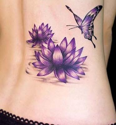 Tatuagem Lotus roxa