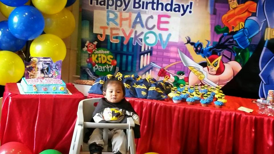 Rhace the general first birthday party venue jollibee 1 mascot of course jollibee 1 message board and one set theme hat invitation card and tray liner we also add name tags for children and loot bags stopboris Gallery