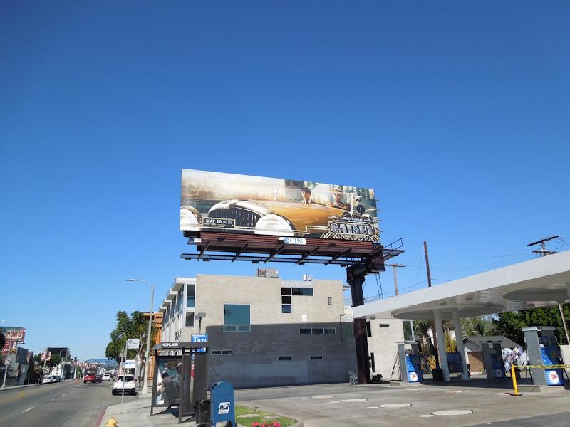 Great Gatsby car billboard