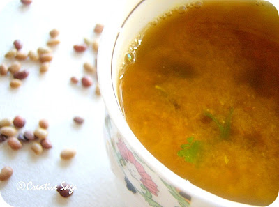 kollu rasam/horsegram soup
