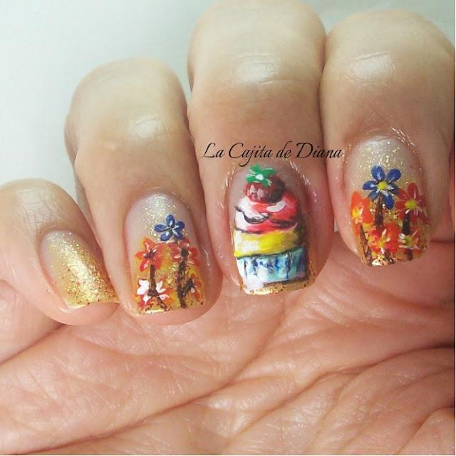 brushes-acrylicpaints-cupcake