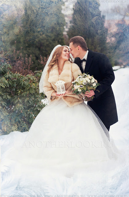 Фотосессия свадьба зима