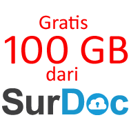 Ruang Gratis 100 GB dari Surdoc