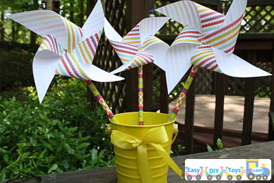 simple handmade paper pinwheel