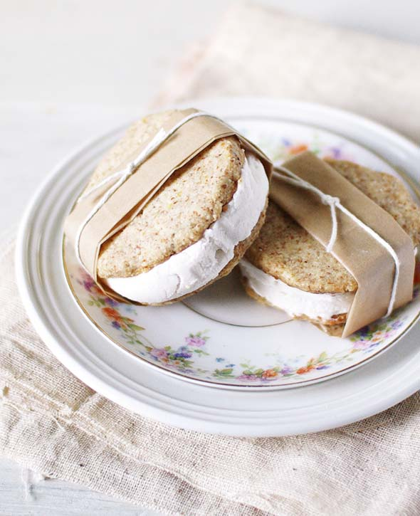 ... menu: lemon almond coconut ice cream sandwiches - Sacramento Street
