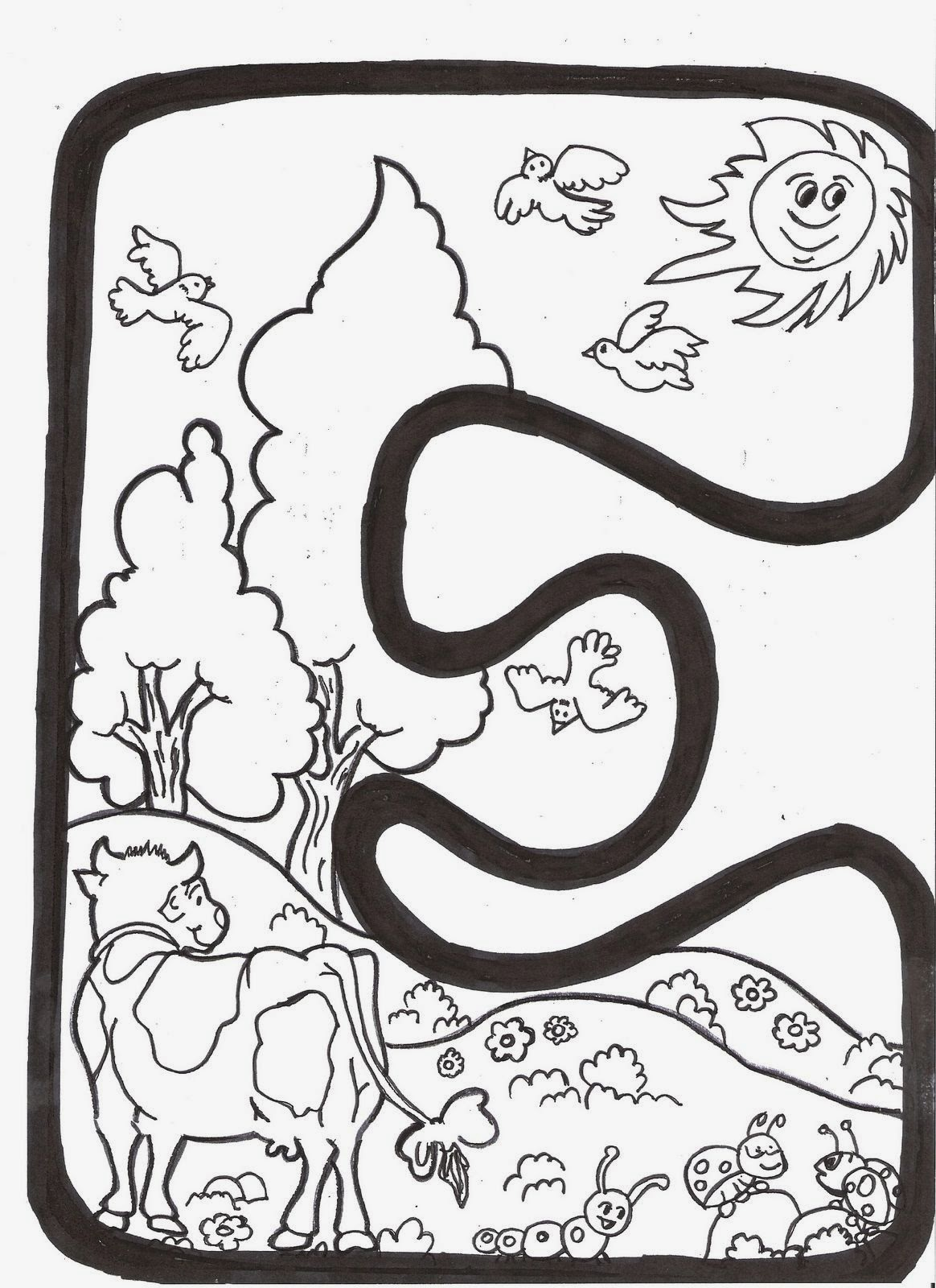 Recursos para Educación Infantil: Letras para colorear La Primavera