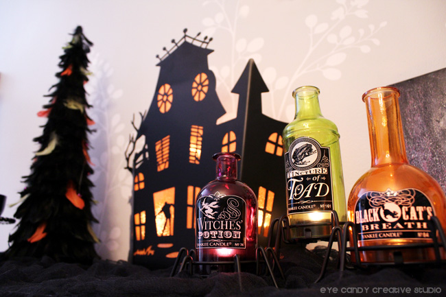 halloween candles, yankee candle, halloween candle holders, tealights
