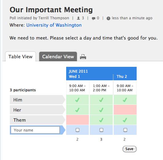 calendaring system