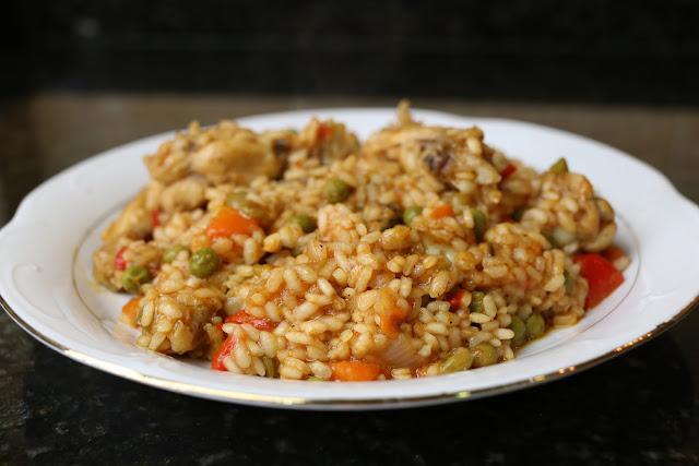 Alitas con arroz