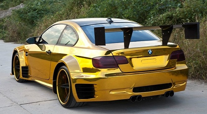 Very Wide And Very Gold Bmw M3