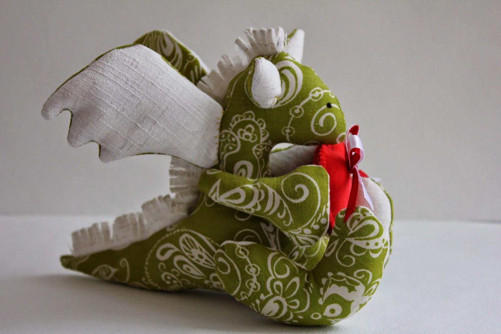 дракончик, текстильная игрушка