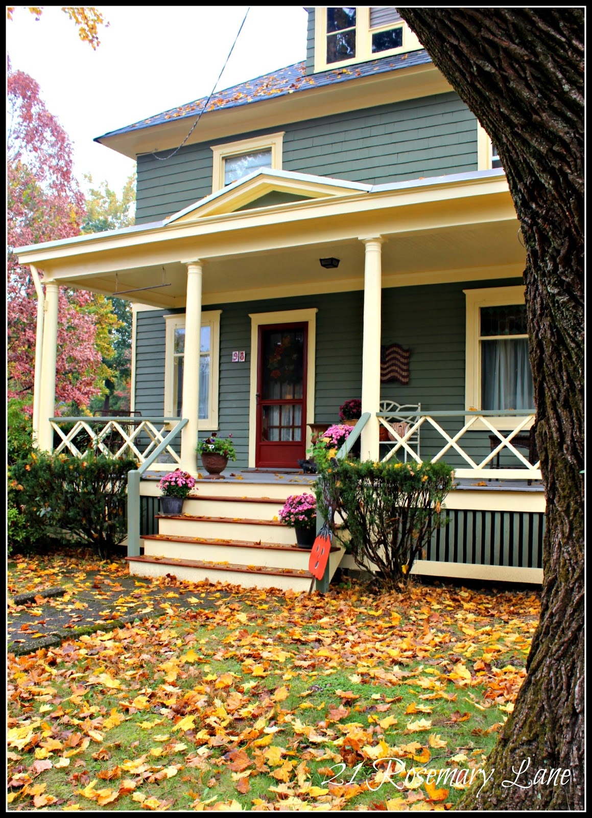 21 rosemary lane fabulous fall porches of califon Beautiful fall front porches