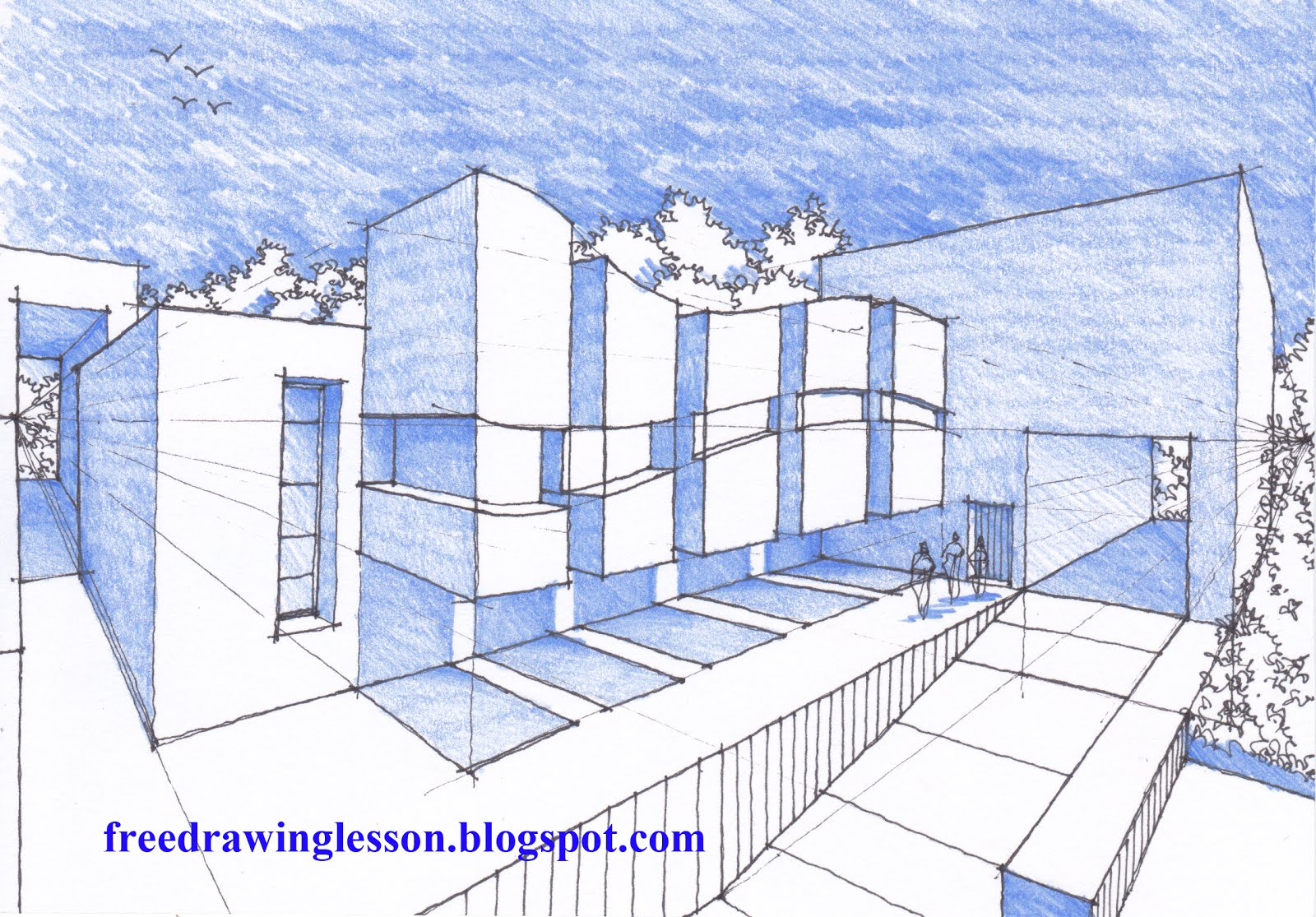 How To Draw A Bungalow