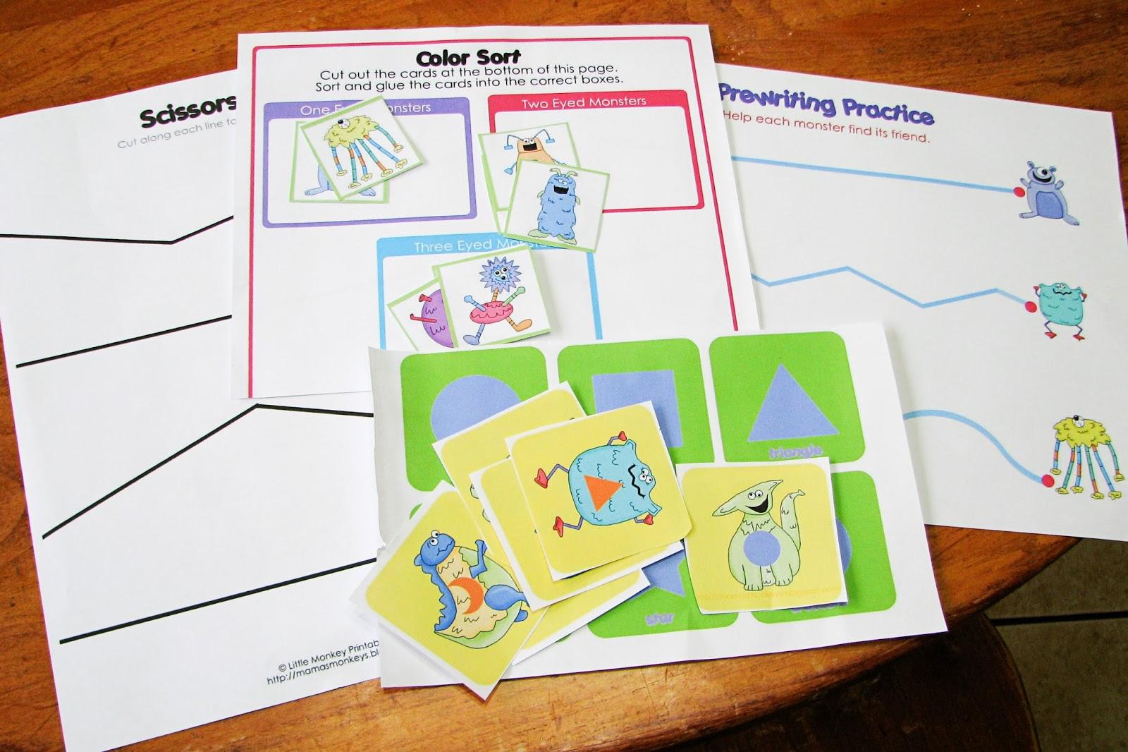 Mommy\'s Little Helper: Monsters Preschool Theme