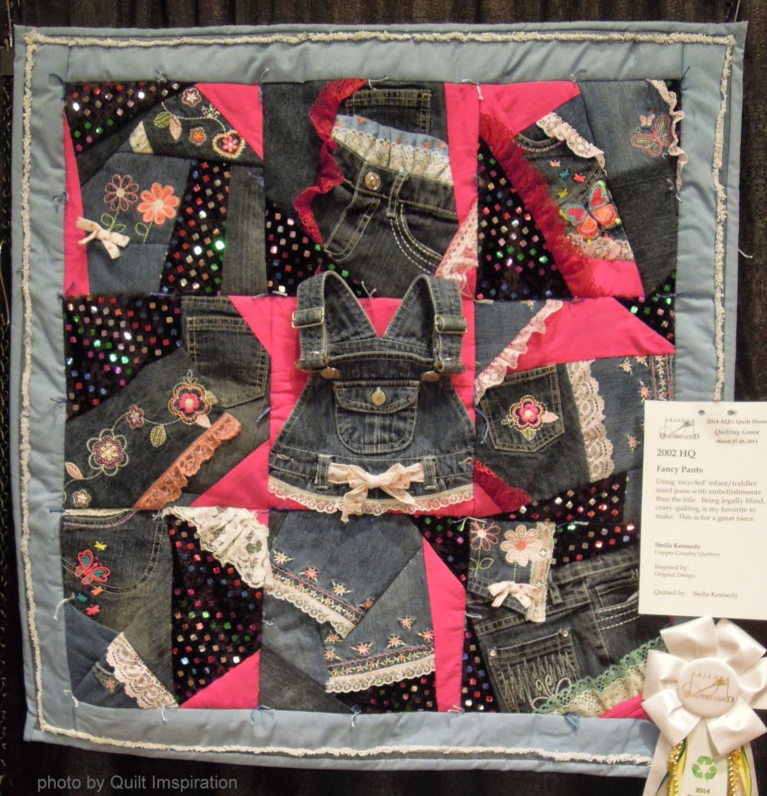 Quilt Inspiration: Waste not, want not: Thrift Store challenge quilts : best way to store quilts - Adamdwight.com