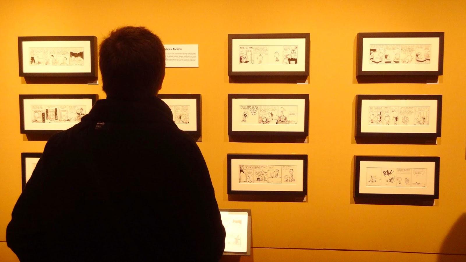 Expo Watterson Calvin et Hobbes, Angoulême FIBD 2015, Les strips encadrés