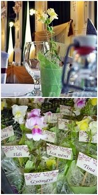 cserepes virág esküvő