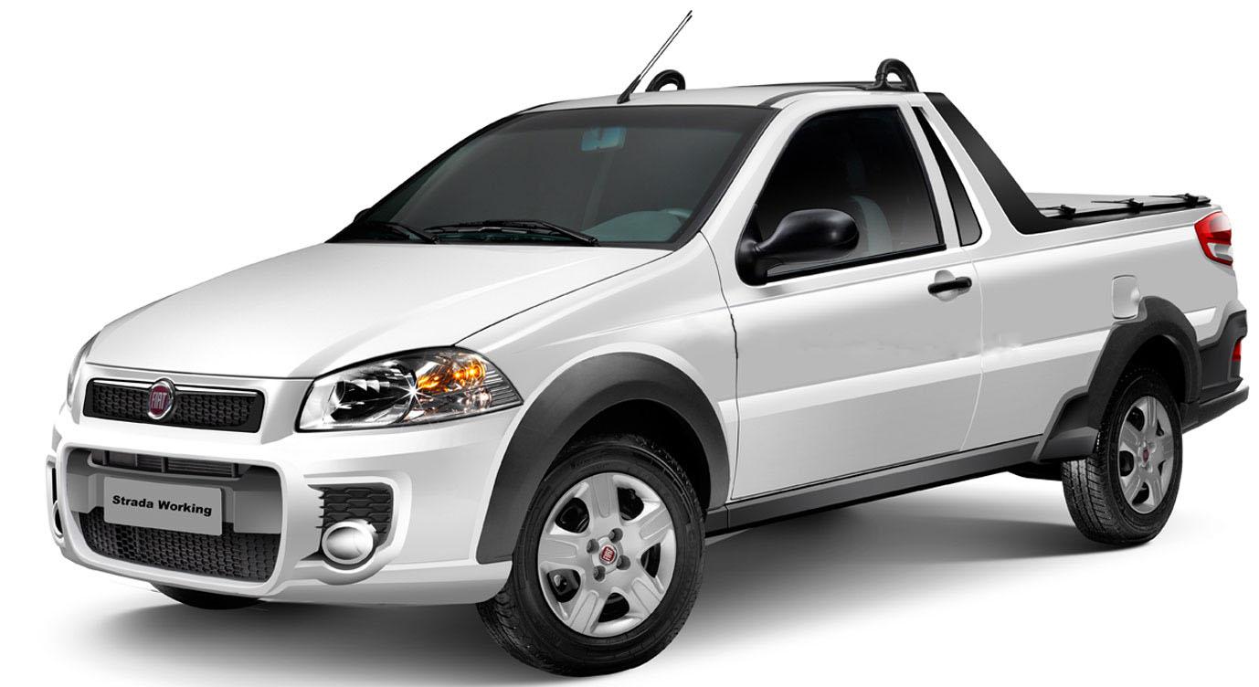 novo Fiat Strada 2014 dianteira