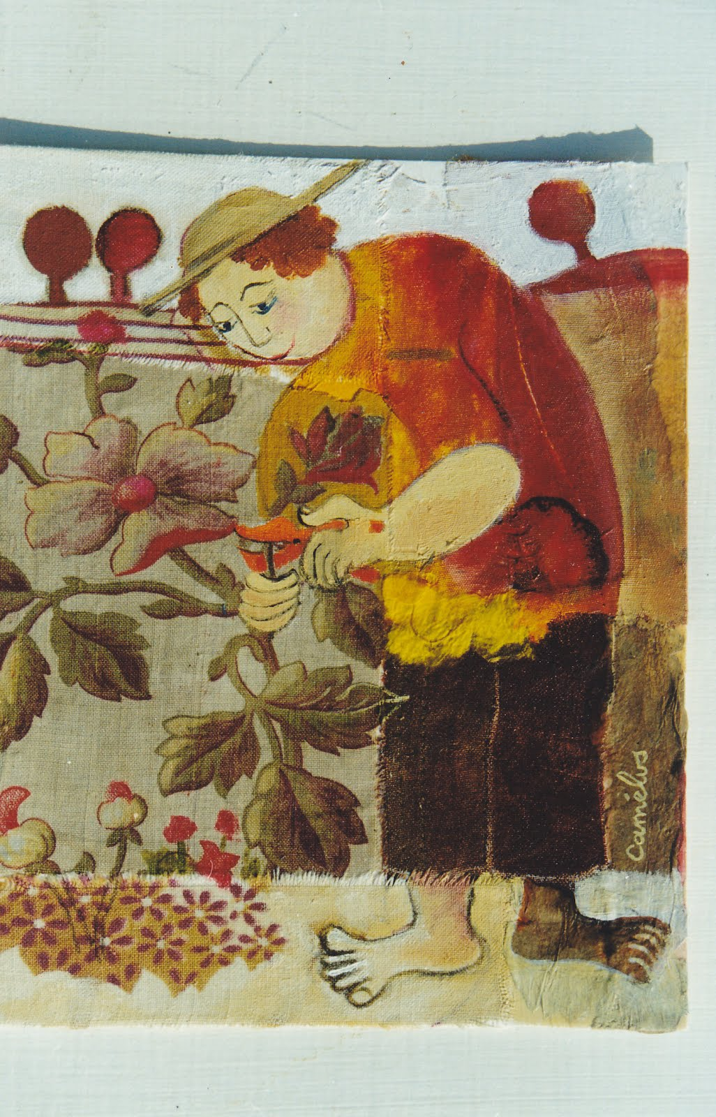 Grains d 39 encre dans le jardin de mon p re 13 le tablier for Au jardin de mon pere