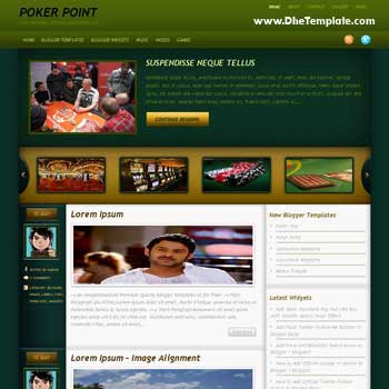 Poker Point blogger template. slideshow template blog. pagination for blogger template. magazine style blog template. template blog form wordpress theme. blogger template for poker games