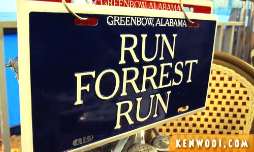 run forest run sign