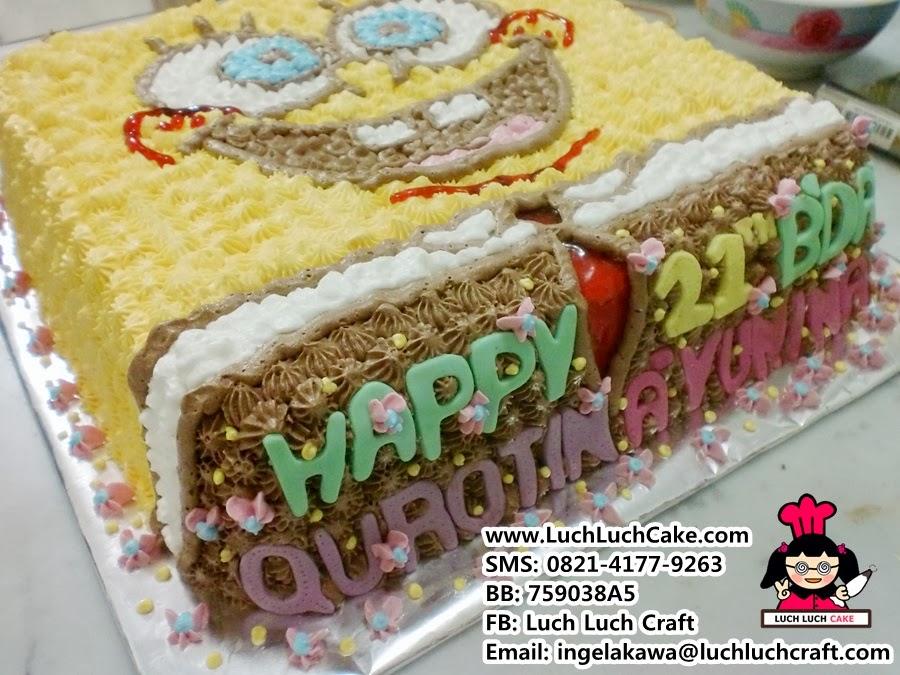 Kue Tart Spongebob Squarepants Murah Daerah Surabaya - Sidoarjo