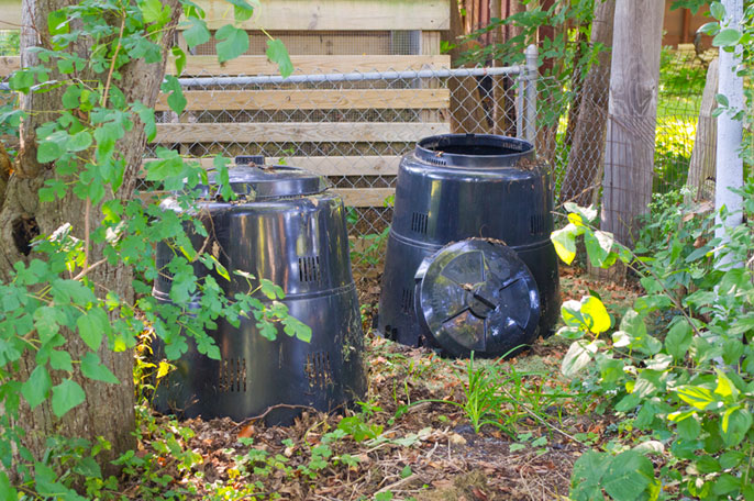 backyard composting station where the dirty work really happens