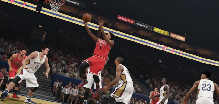 NBA 2K15 'Yakkem' Trailer Gameplay Screenshot - Derrick Rose for Layup