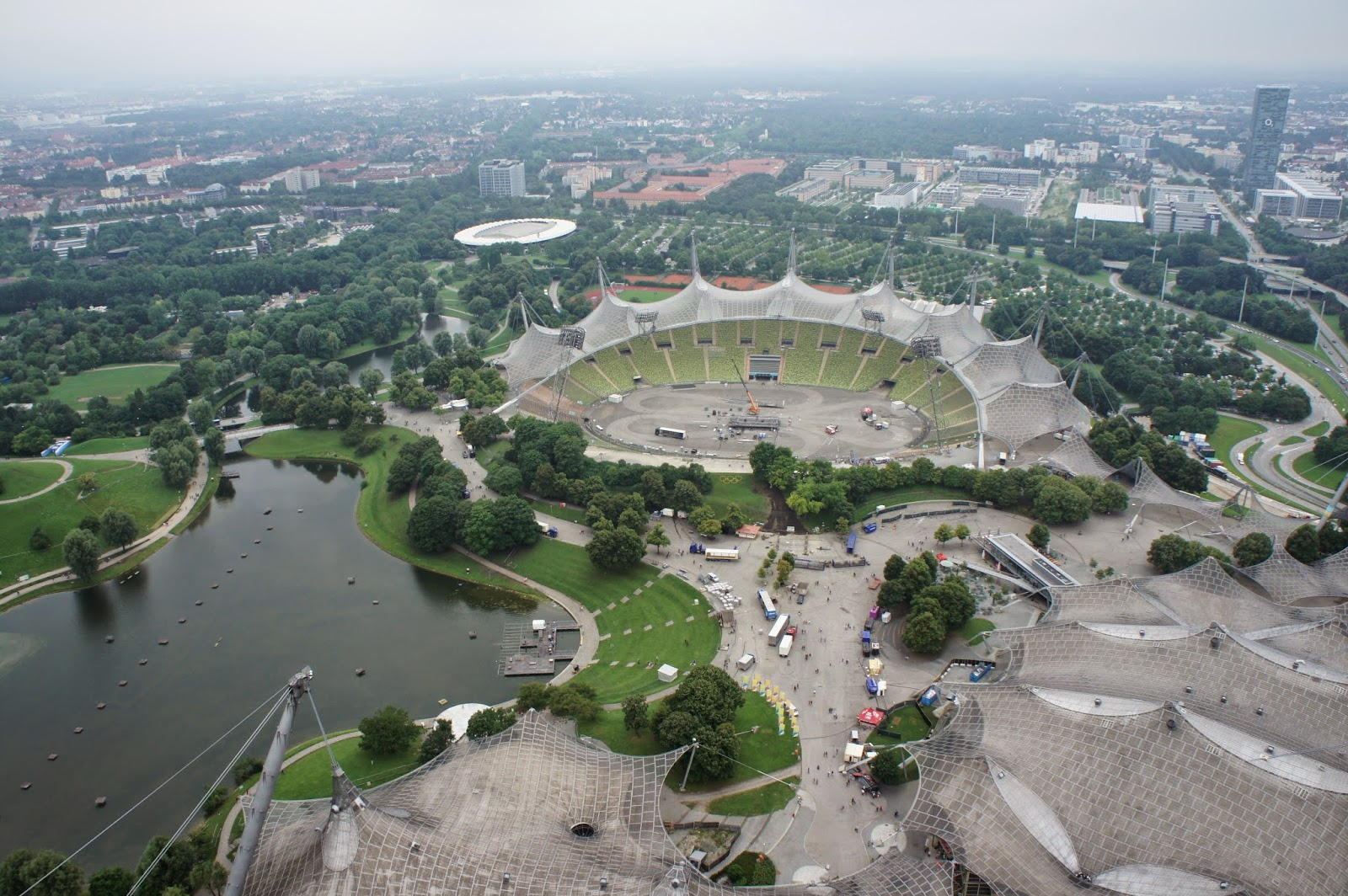 Vistas del parque Olímpico desde la Torre Olímpica (Olympiaturm)