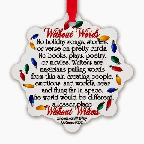 <b>Holiday Ornament for Writers</b>