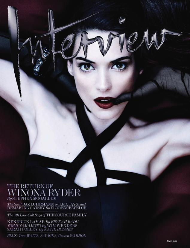 Winona Ryder na Interview Magazine