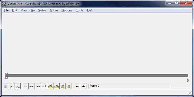 A interface do VirtualDub