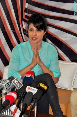Priyanka Chopra during a Press Meet in Imphal1