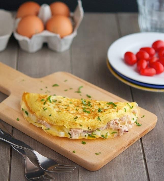 Tuna Melt Omelets