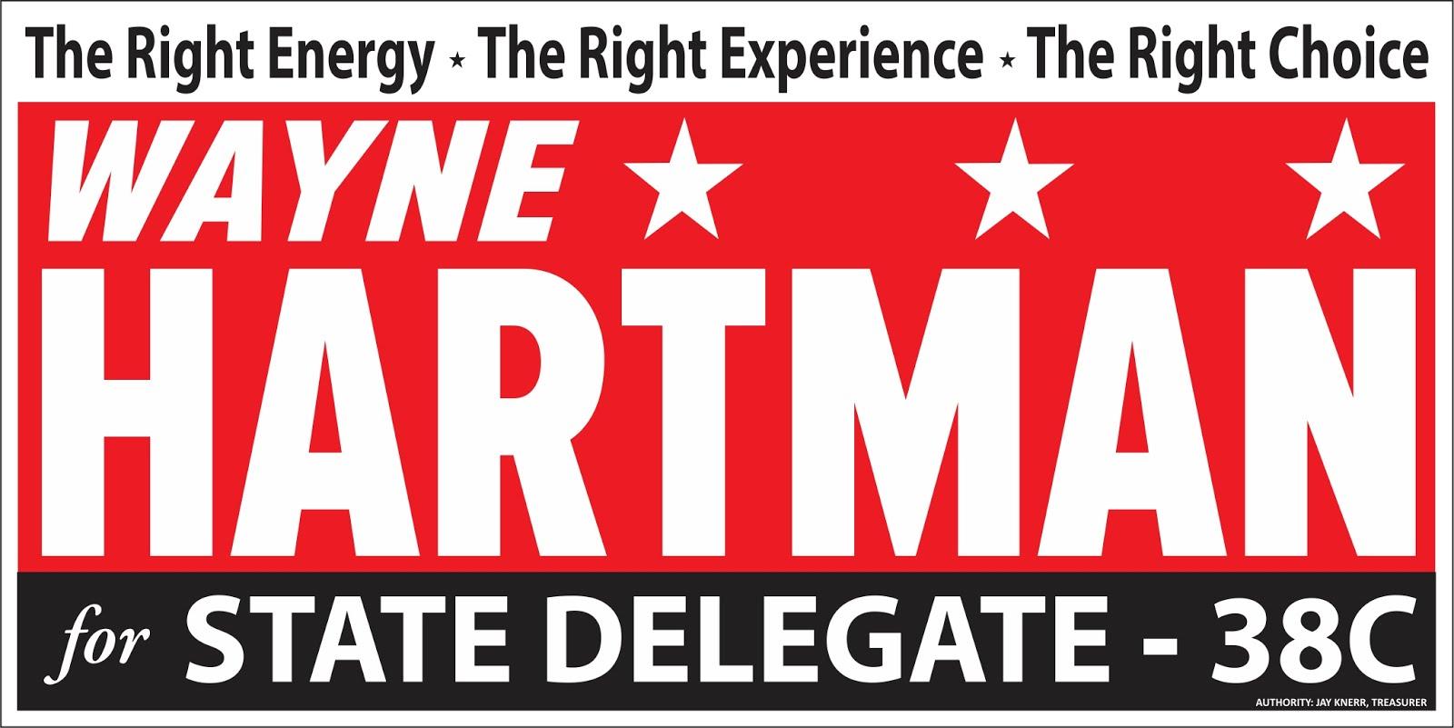 Wayne Hartman For State Delegate 38C