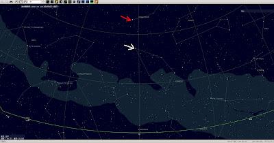 PC-BSD 9.1に標準でインストールされている『KStars』で2000年後の北極星を確認。